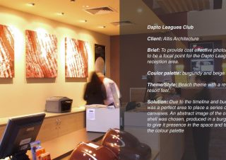 Dapto Leagues Club Canvas Prints – A commissioned bespoke installation