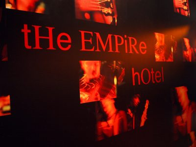 Empire Hotel Vinyl Wall Covering – A commissioned bespoke installation
