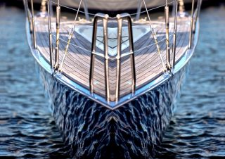 Mirror Boats – An off the shelf design (Limited Rights Available) – Reflections of the water on the hulls of sailing boats